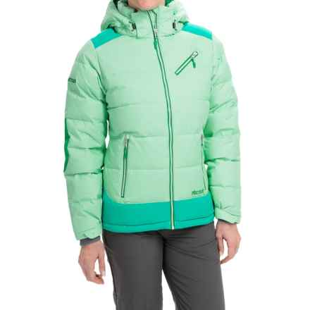 Marmot Sling Shot Down Jacket - 700 Fill Power (For Women) in Green Frost/Gem Green - Closeouts
