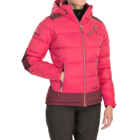 Marmot Sling Shot Down Jacket - 700 Fill Power (For Women) in Summer Pink/Berry Wine