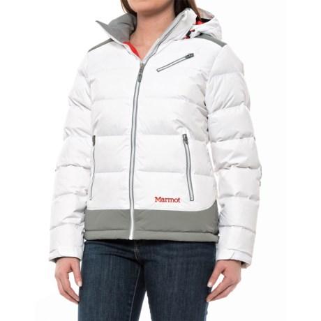 Marmot Sling Shot Down Jacket - 700 Fill Power (For Women) in White/Grey Storm