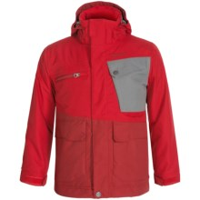 Marmot Space Walk MemBrain® Ski Jacket - Waterproof, Insulated (For Little and Big Boys) in Team Red/Dark Crimson - Closeouts
