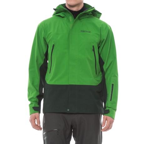 Marmot Spire Gore-Tex® Jacket - Waterproof (For Men) in Lucky Green/Dark Spruce