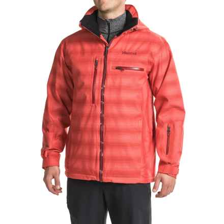 Marmot Starcross Ski Jacket - Waterproof, Removable Hood (For Men) in Rocket Red - Closeouts