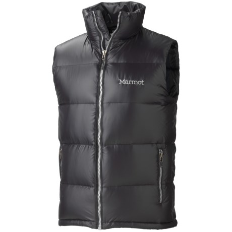 Marmot Stockholm Down Vest - 650 Fill Power (For Men) in Black