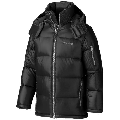 Marmot Stockholm JR Down Jacket - 700 Fill Power (For Youth Boys) in Black