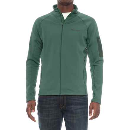 Marmot Stretch Fleece Jacket (For Men) in Mallard Green - Closeouts