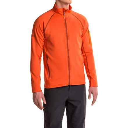 Marmot Stretch Fleece Jacket (For Men) in Sunset Orange - Closeouts