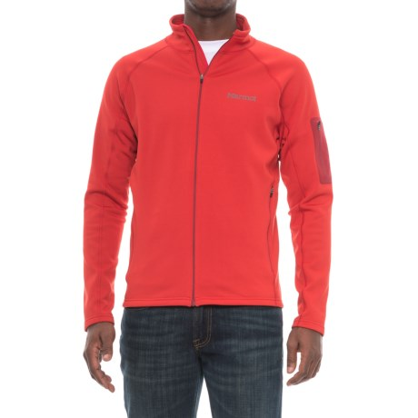 Marmot Stretch Fleece Jacket (For Men) in Team Red