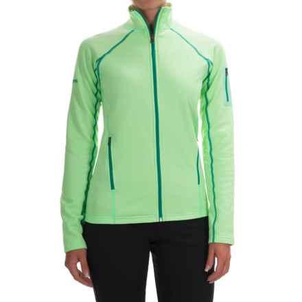 Marmot Stretch Fleece Jacket - Full Zip (For Women) in Green Frost - Closeouts