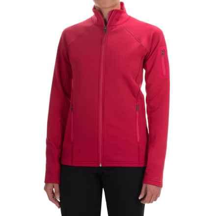Marmot Stretch Fleece Jacket - Full Zip (For Women) in Raspberry - Closeouts