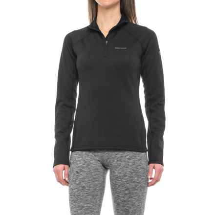 Marmot Stretch Fleece Jacket - Zip Neck (For Women) in Black - Closeouts