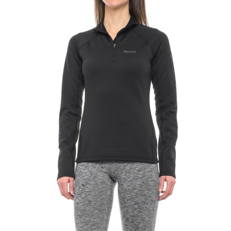 Marmot Stretch Fleece Jacket - Zip Neck (For Women) in Black
