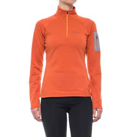 Marmot Stretch Fleece Jacket - Zip Neck (For Women) in Burnt Ochre - Closeouts
