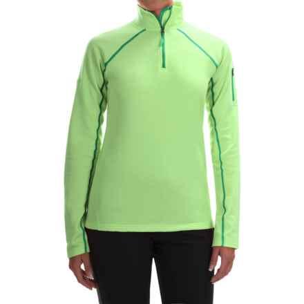 Marmot Stretch Fleece Jacket - Zip Neck (For Women) in Green Frost - Closeouts