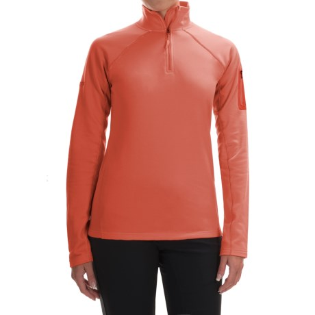 Marmot Stretch Fleece Jacket - Zip Neck (For Women) in Living Coral