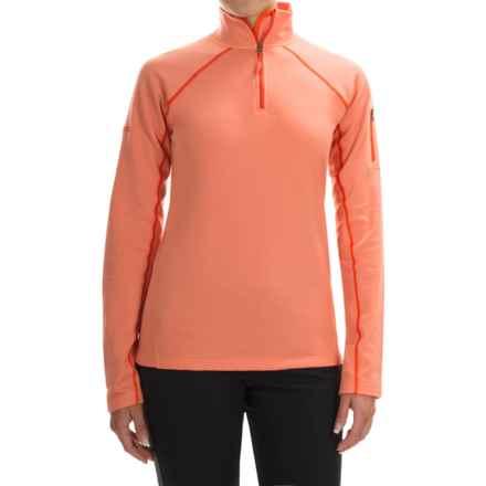 Marmot Stretch Fleece Jacket - Zip Neck (For Women) in Melon Blush - Closeouts