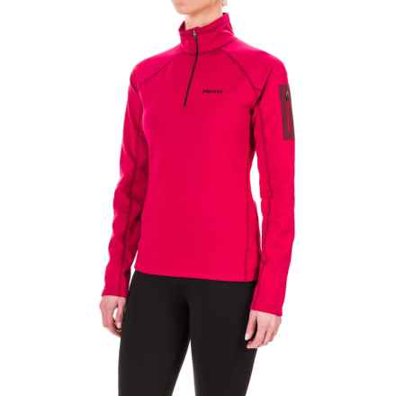 Marmot Stretch Fleece Jacket - Zip Neck (For Women) in Persian Red - Closeouts