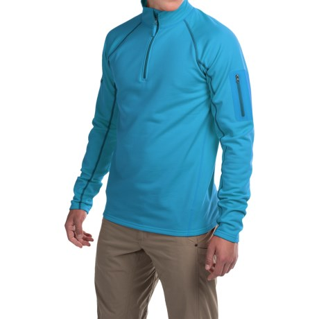 Marmot Stretch Fleece Shirt - Zip Neck, Long Sleeve (For Men) in Dark Atomic
