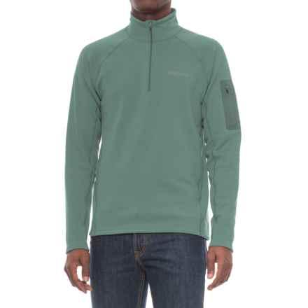 Marmot Stretch Fleece Shirt - Zip Neck, Long Sleeve (For Men) in Mallard Green - Closeouts