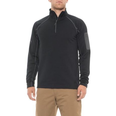 Marmot Stretch Fleece Shirt - Zip Neck, Long Sleeve (For Men) in New Black