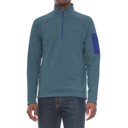 Marmot Stretch Fleece Shirt - Zip Neck, Long Sleeve (For Men) in Storm Cloud - Closeouts