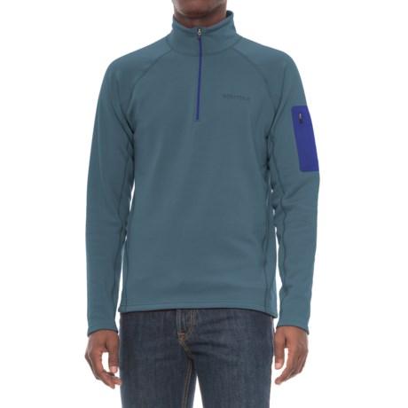 Marmot Stretch Fleece Shirt - Zip Neck, Long Sleeve (For Men) in Storm Cloud