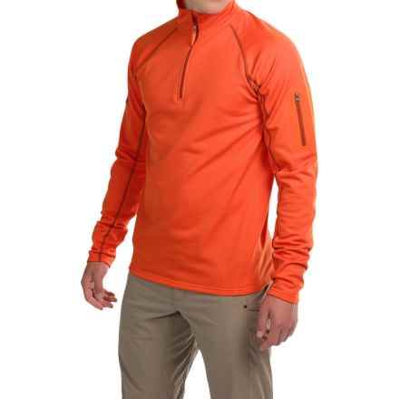 Marmot Stretch Fleece Shirt - Zip Neck, Long Sleeve (For Men) in Sunset Orange - Closeouts