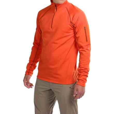 Marmot Stretch Fleece Shirt - Zip Neck, Long Sleeve (For Men) in Sunset Orange - Closeouts