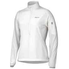 Marmot Stretch Light Shirt - Polartec® Power Stretch®, Zip Neck (For Women) in New White - Closeouts