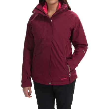 Marmot Sugar Loaf Component Jacket - Waterproof, 3-in-1 (For Women) in Berry Wine - Closeouts