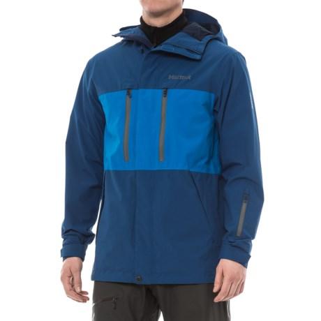 Marmot Sugarbush MemBrain® Jacket - Waterproof (For Men) in Dark Cerulean/Clear Blue