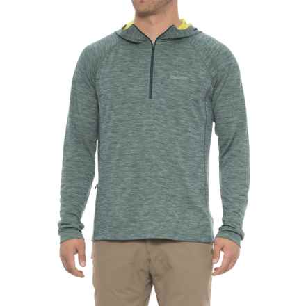 Marmot Sunrift Hoodie - UPF 50, Zip Neck (For Men) in Deep Teal - Closeouts