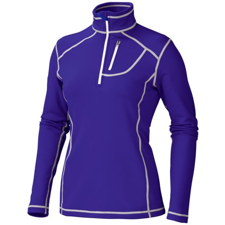 Marmot Sunspot Shirt - Zip Neck, Long Sleeve (For Women) in Electric Blue