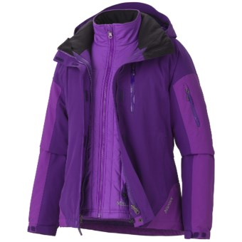 Marmot Tamarack Component Jacket - Waterproof, Insulated, 3-in-1 (For Women) in Deep Purple/Vibrant Purple