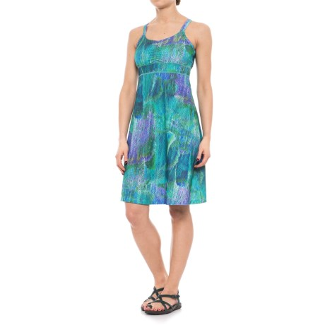 Marmot Taryn Shirred Racerback Dress - UPF 30, Sleeveless (For Women) in Celtic Day Dream
