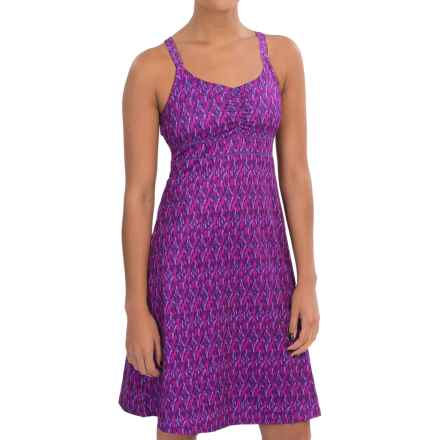 Marmot Taryn Shirred Racerback Dress - UPF 30, Sleeveless (For Women) in Spring Purple Ikat - Closeouts