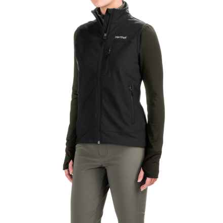 Marmot Tempo Vest - Soft Shell (For Women) in Black - Closeouts