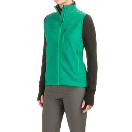 Marmot Tempo Vest - Soft Shell (For Women) in Green Garnet - Closeouts