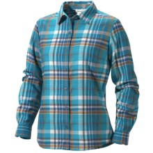 Marmot Thalia Flannel Shirt - UPF 50, Long Sleeve (For Women) in Mosaic Blue - Closeouts