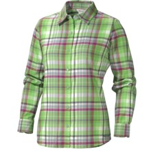 Marmot Thalia Flannel Shirt - UPF 50, Long Sleeve (For Women) in Rain Forest - Closeouts