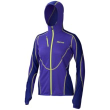 Marmot Thermo Fleece Jacket - Polartec® Power Dry®, Zip Front (For Women) in Electric Blue/Midnight Purple - Closeouts