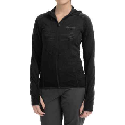Marmot Thermo Polartec® Power Dry® Hooded Jacket (For Women) in Black - Closeouts