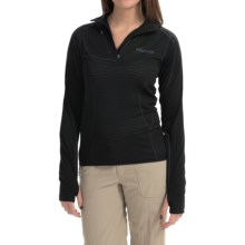 Marmot Thermo Polartec® Power Dry® Shirt - Zip Neck, Long Sleeve (For Women) in Black - Closeouts