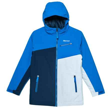 Marmot Thunder Ski Jacket - Waterproof, Insulated (For Boys) in True Blue/Arctic Navy - Closeouts