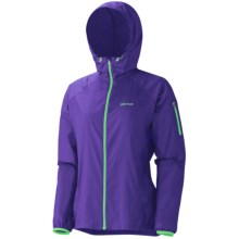 Marmot Trail Wind Hooded Jacket (For Women) in Electric Blue - Closeouts
