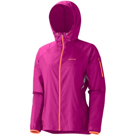 Marmot Trail Wind Hooded Jacket (For Women) in Lipstick