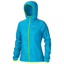 Marmot Trail Wind Hoodie Jacket - Water Repellent (For Women) in Atomic Blue - Closeouts