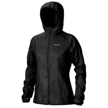 Marmot Trail Wind Hoodie Jacket - Water Repellent (For Women) in Black - Closeouts