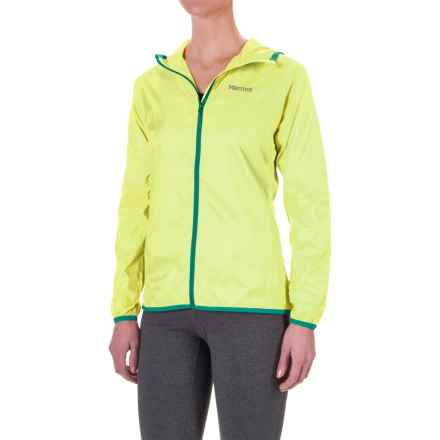 Marmot Trail Wind Hoodie Jacket - Water Repellent (For Women) in Citrus Ice - Closeouts
