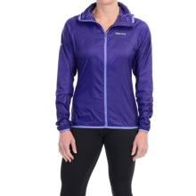 Marmot Trail Wind Hoodie Jacket - Water Repellent (For Women) in Midnight Purple/Faded Ink - Closeouts