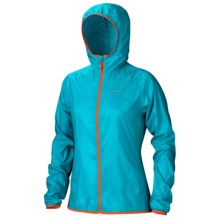 Marmot Trail Wind Hoodie Jacket - Water Repellent (For Women) in Sea Glass - Closeouts